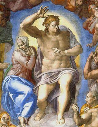 Michelangelo Buonarroti, Cristo giudice e Maria - Fonte: wikipedia